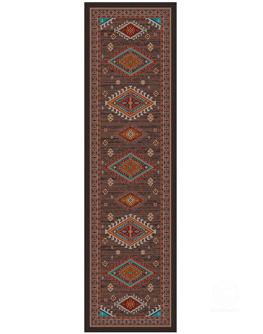 Picture of: Persian Southwest Brown Area Rug Southwestern