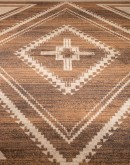 southwestern style rug with cream colors