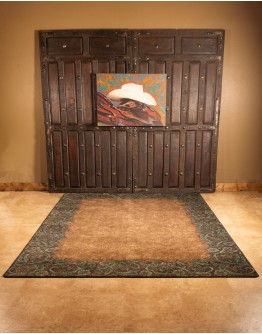 Tooled Turquoise Rug