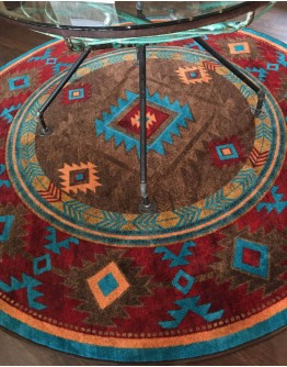 Whisky River Turquoise Rug