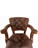 ranch style leather barstool with axis deer skin