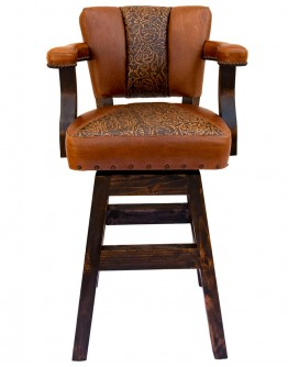 Chisum Channel Tooled Barstool