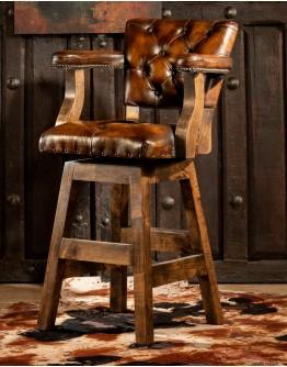 Chisum Classic Brown Barstool