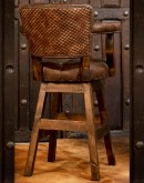 best ranch style leather barstools