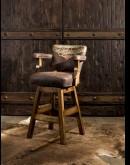 southwestern style leather barstool
