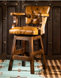 Chisum Saddle Brown Barstool