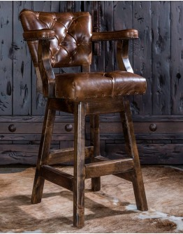 Chisum Stallion Tufted Barstool