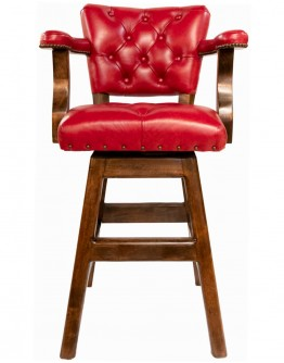 Chisum Red Tufted Barstool