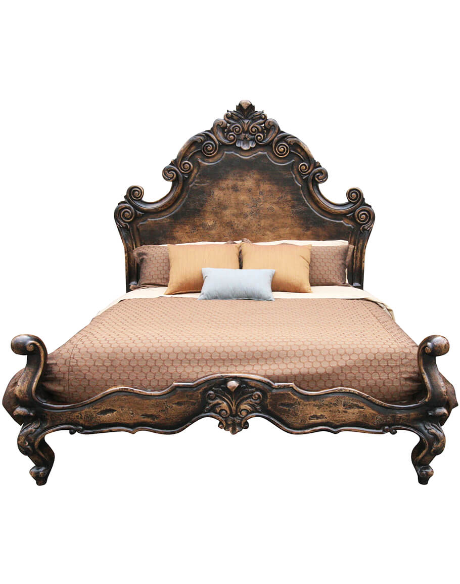 Marqueza Bed Carved Spanish Style