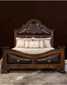 Western Leather King Bed