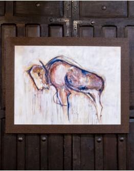 Petroglyph Bison Framed Print