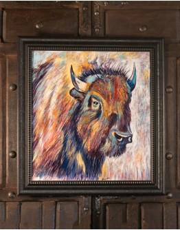 Bison Bull Framed Print