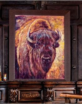 Bold Bison Framed Print