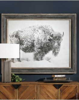In The Storm Framed Print