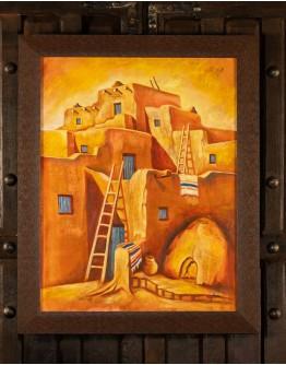 Pueblo Village Framed Print