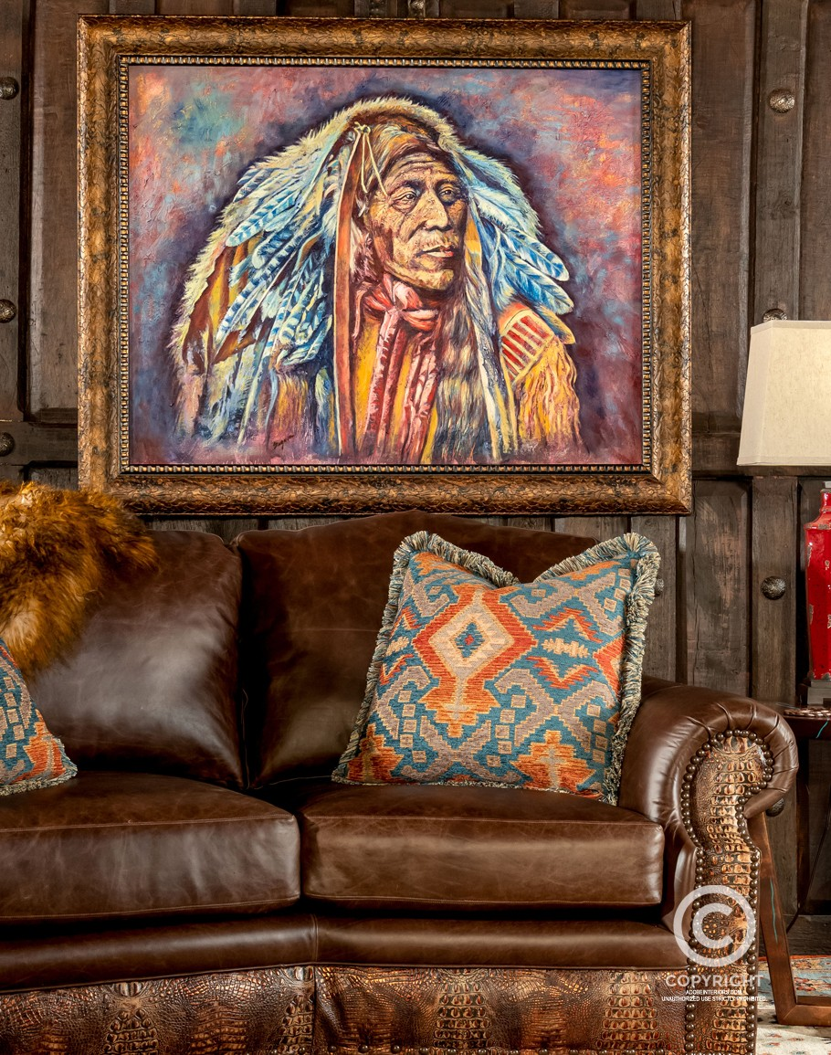 War Bonnet Framed Print Southwestern Art