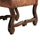 western chic style leather dining room chair