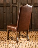 dining chair with deer hide