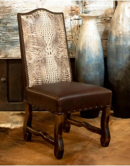 Ivory Croc Dining Chair