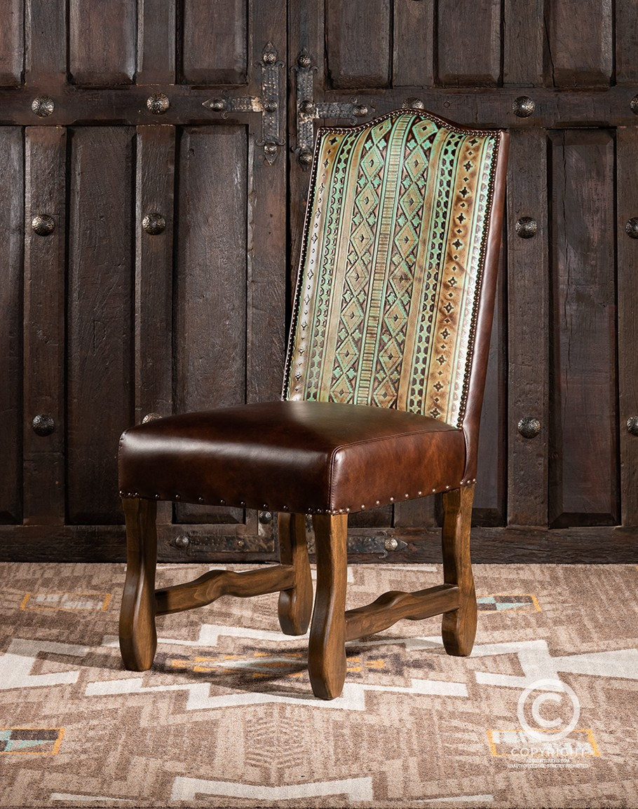 Navajo Leather Dining Chair Fine, American Made Dining Room Chairs
