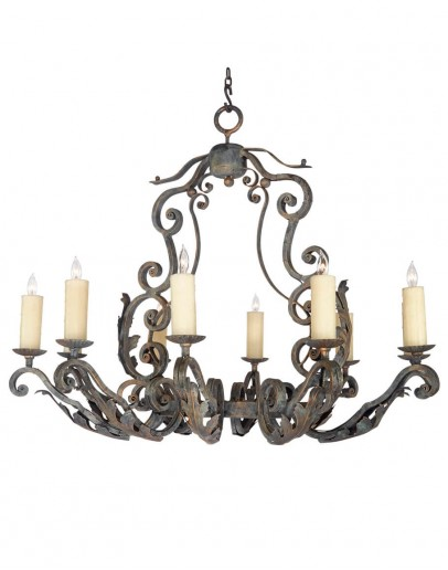 best hand forged iron chandeliers