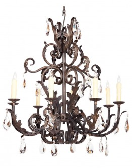 8 Light Verona with Crystals Chandelier