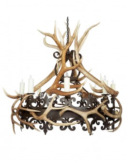 Nico Single Tier Chandelier w/Antlers