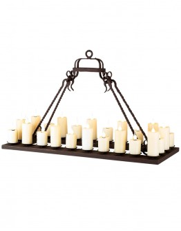 Single Tier Rectangular Ladco Chandelier