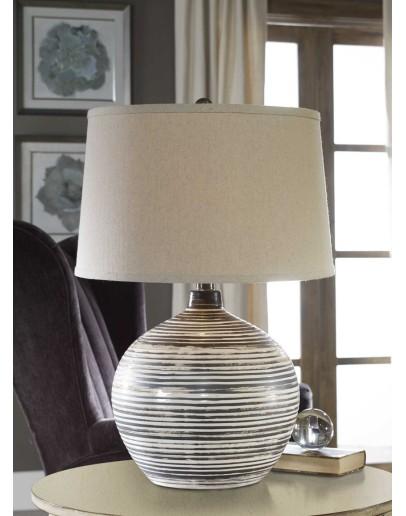 mocha and ivory ceramic table lamp