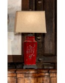 rusty red table lamp