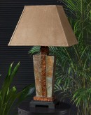 table lamp made from slate stone