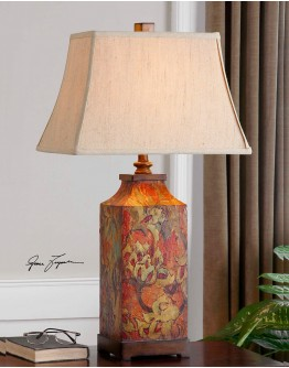 Colorful Flowers Table Lamp