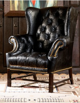 Barbarossa Tufted Leather Chair