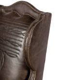 leather chair with western boot stitching design