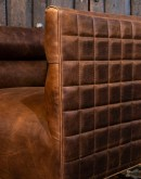 modern rustic style leather club chair