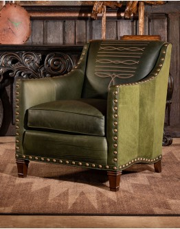 Cassidy Olive Leather Chair