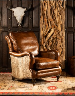 Dutton Sauvage Leather Chair