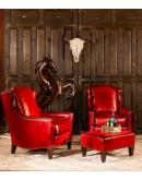 fine red leather chair
