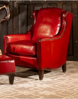 Estella Red Leather Chair