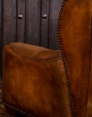 high end western style leather living room chair