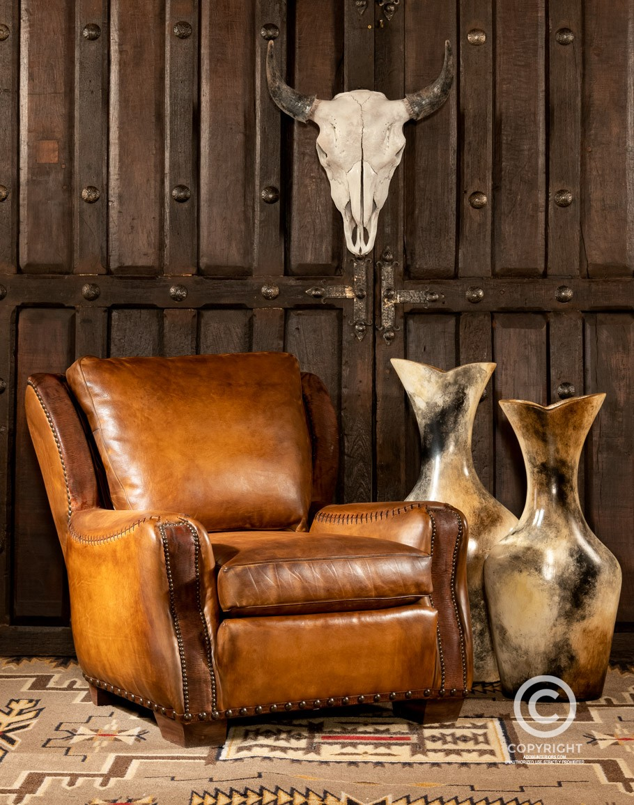 Ranchero Chair Fine Leather, Leather Living Room Chair