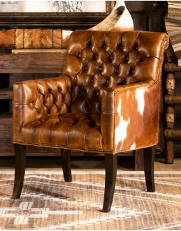Reno Tufted Leather Chair