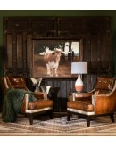upscale ranch style leather chair,ranch style chair with saddle leather
