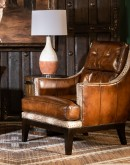 upscale ranch style leather chair