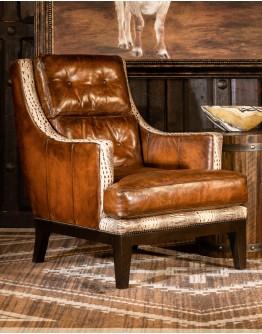 Saddleback Ivory Croc Chair
