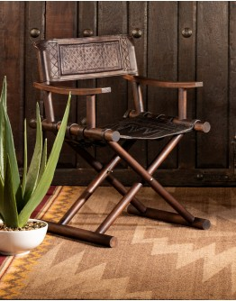 Tooled Leather Directors Chair