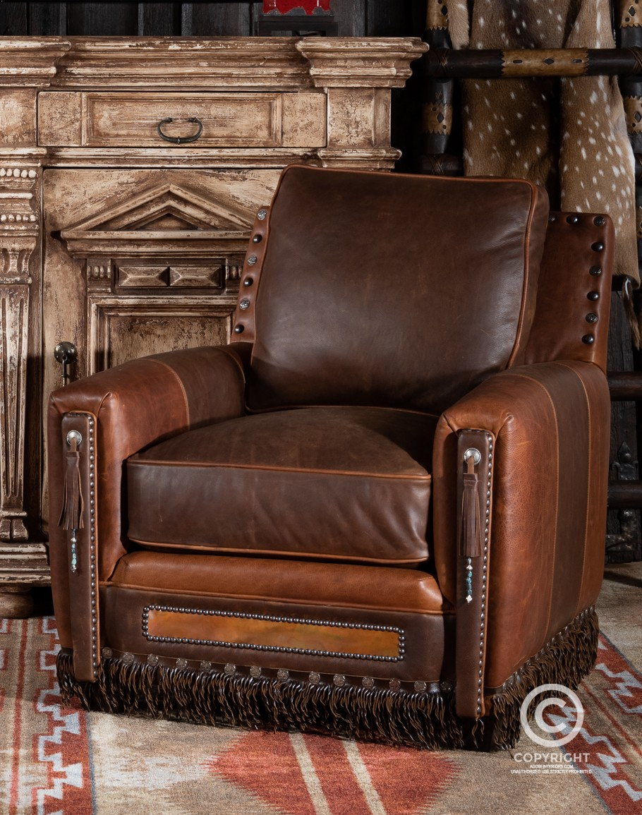 Picture of: Tubac Leather Chair Southwestern Leather