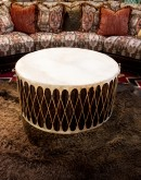 authentic rawhide indian drum coffee table