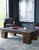 rustic beam coffee table