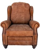 western style leather recliners